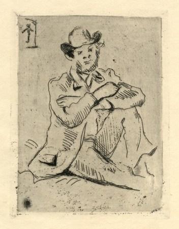 """Paul Cezanne original etching """"Guillaumin au Pendu"""""""