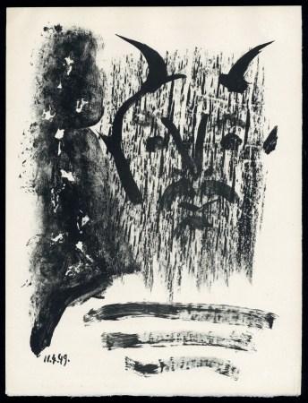 "Pablo Picasso original lithograph ""Elegy of Ihpetonga"""