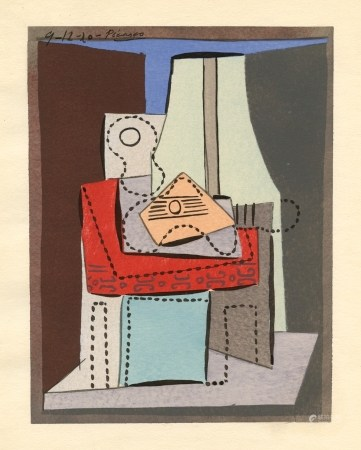 Pablo Picasso Cubist pochoir for Cahiers d'Art, 1926