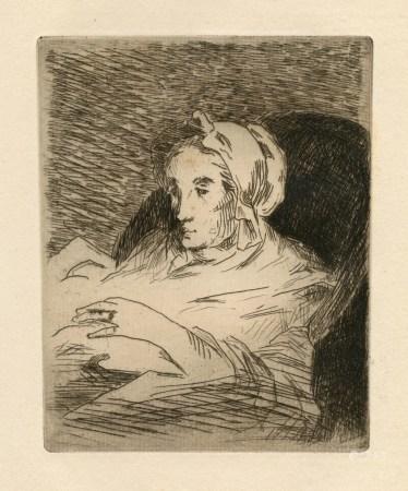 "Edouard Manet original etching ""La Convalescente"""