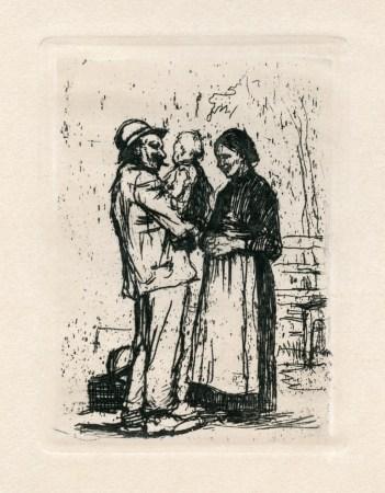 """Kathe Kollwitz """"Begrüssung"""" original etching"""