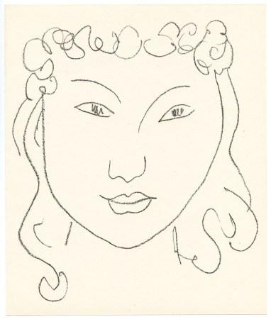 Henri Matisse original lithograph for Pierre a feu | Les miroirs profonds