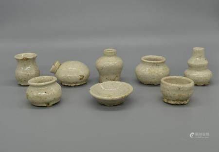 Korean White Glazed miniature collection
