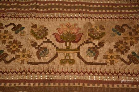 Greek Island Embroidered Textile, needlework