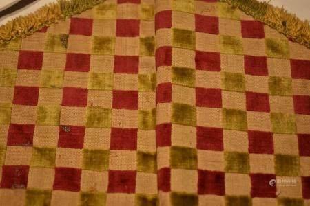 Part of Priest Attire Velvet Checkered Design on String