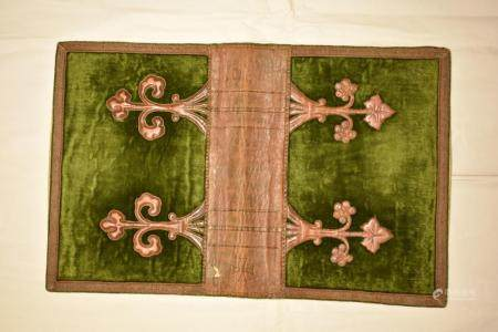 Malta Leather and Velvet Bible Cover with Crucifix