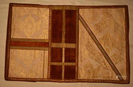 Italian Damask Angel Velvet and Textile Bible Cover with french binding (Gloria, IHS)