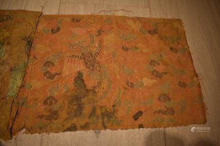 Chinese Silk Woven Brocade with flying phoenix