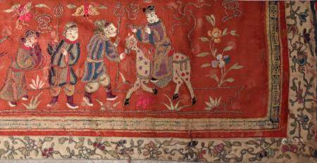 Chinese Blindknot (Pekking knot) of Figures Red Panel