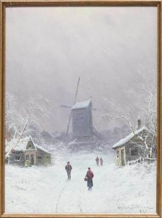 """Niels CHRISTENSEN (1867-1939) """"Winter Day"""""""