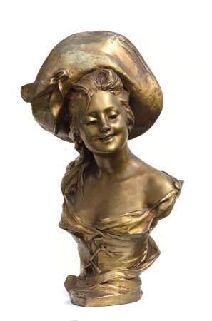 George Van Der Straeten (Belgian 1856-1941) Bronze Bust