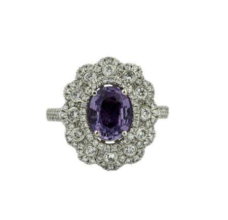 Fine and Rare Unheated GIA Certified Sapphire Ring