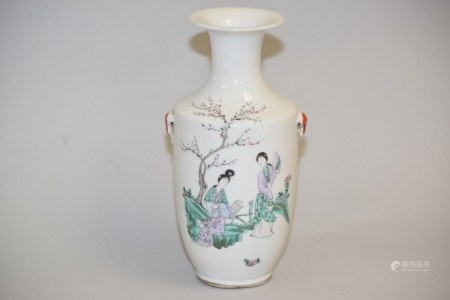 19-20th C. Chinese Porcelain Famille Rose Vase