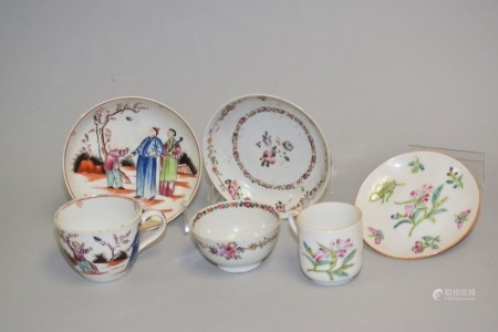 Group of 18-19th C. Chinese Export Porcelain Tea Wares