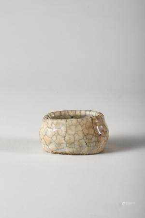 Chinese Crackle Glazed Porcelain Water Coupe, Ming