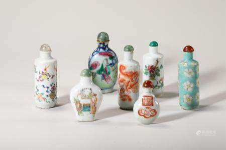 Chinese Group Of Seven Snuff Bottles