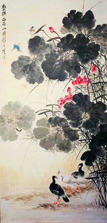 Chinese Painting 'Flowers And Birds' - Qi Baishi