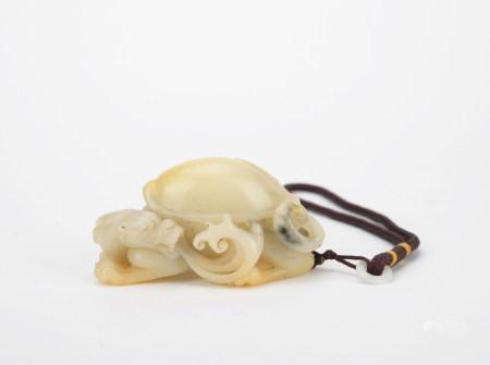 清 寿山石龟摆件