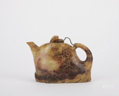 清 寿山石酒壶
