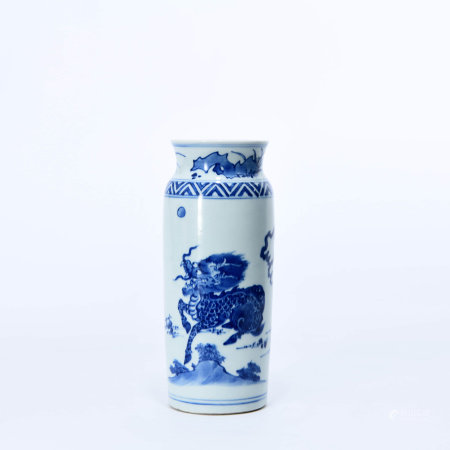 A Blue and White Best Sleeve Vase