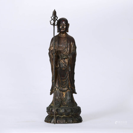 A Bronze Statue of Ksitigarbha