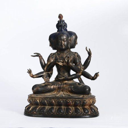 A Gild Bronze Statue Of Namgyalma
