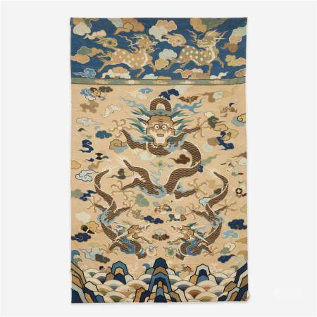 """A large Chinese kesi tapestry """"Dragons"""" panel, late Ming/ Early Qing dynasty, 17th/18th Century"""