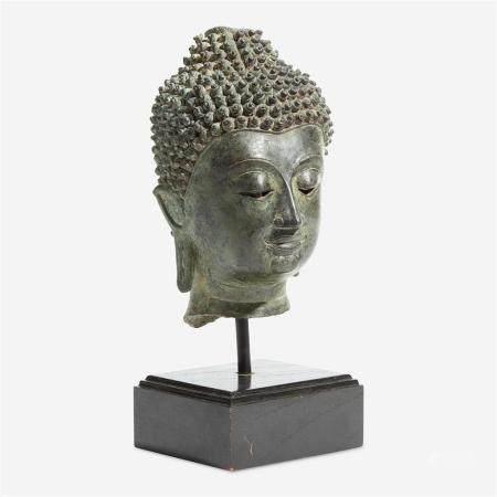 A Thai Chieng-Saen style head of a Buddha, 15th Century