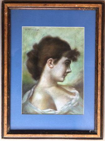 FEODOR PETROVICH CHUMAKOV (1823-1911) PASTEL PAINTING OF LADY PORTRAIT