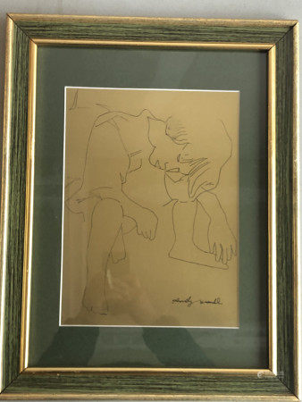 ANDY WARHOL GOLD BOOK PAINTING