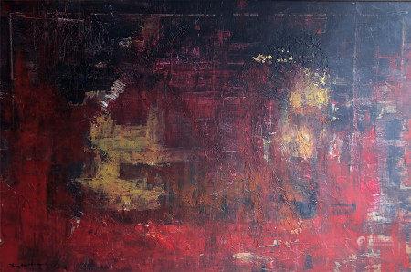 ZAO WOU-KI (1921-2013) OIL PAINTING OF ABSTRACT