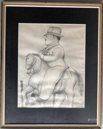 FERNANDO BOTERO (1932-) PENCIL DRAWING ON PAPER