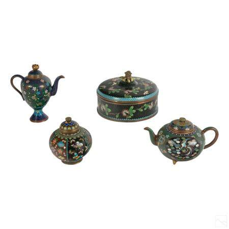 Chinese Assorted Cloisonne Pots and Urn Collection