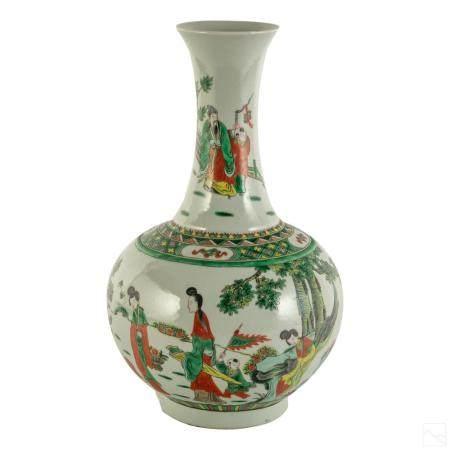 Chinese Qing Dynasty Marked Antique Porcelain Vase