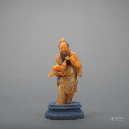 A shou shan stone figure