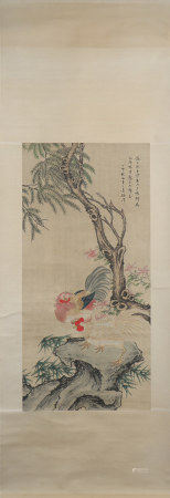 A Xu wei's chickens painting