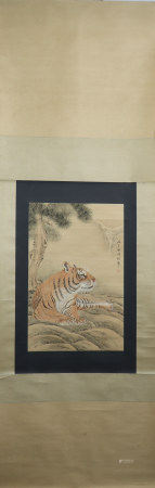 A Cheng zhang's tiger painting