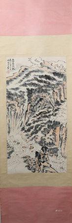 A Lu yaoshao's landscape painting