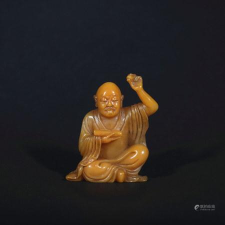 A Shou shan stone statue