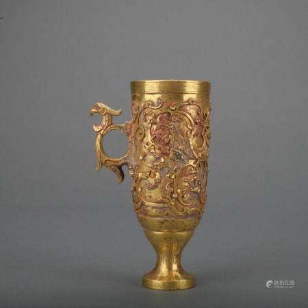 A gold wine cup