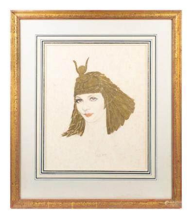 Claudette Colbert as Cleopatra