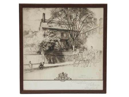 AN ANTIQUE ETCHING SIGNED SIDNEY LAWTON SMITH