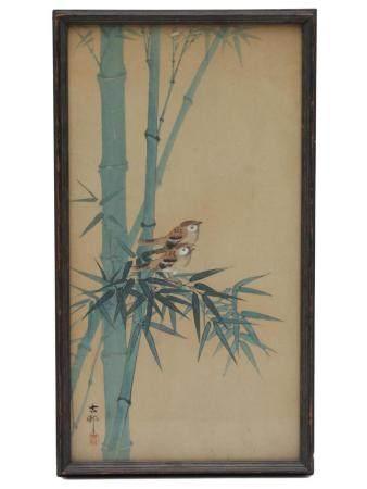 A JAPANESE ORIGINAL WOODBLOCK PRINT BY OHARA KOSON