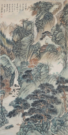 A Chinese Scroll Painting By Zhang Daqian