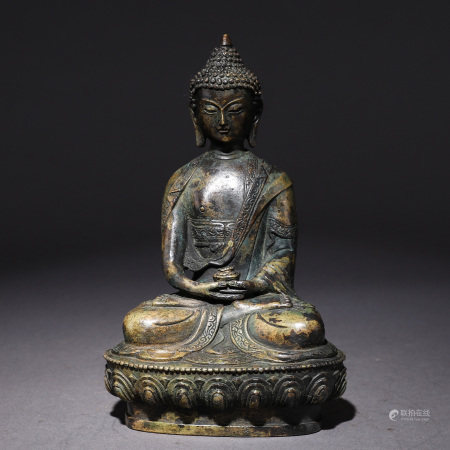 Bronze Gilt Seated Shakyamuni