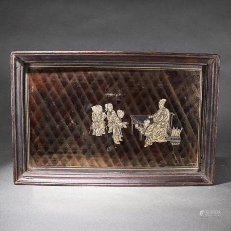 Monochrome and Gilt Tea-tray