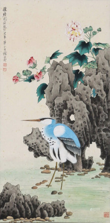 A Chinese Scroll Painting By Xie Zhiliu
