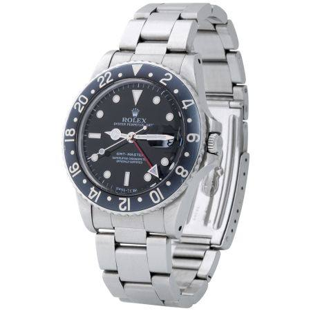Rolex. Very Well Preserved and Desirable GMT-Master Automatic Wristwatch in Steel, Reference 16