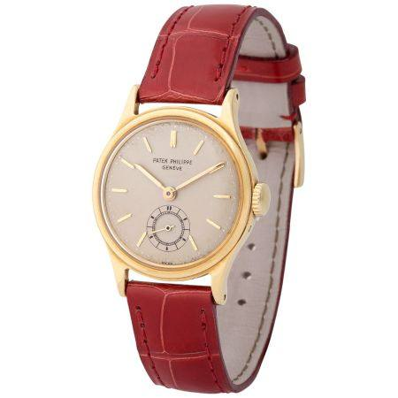 Patek Philippe. Very Elegant and Fine Calatrava-Style Wristwatch in Yellow Gold, Reference 2451