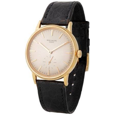 Patek Philippe. Fine and Elegant Calatrava Automatic Wristwatch in Yellow Gold, Reference 3561,